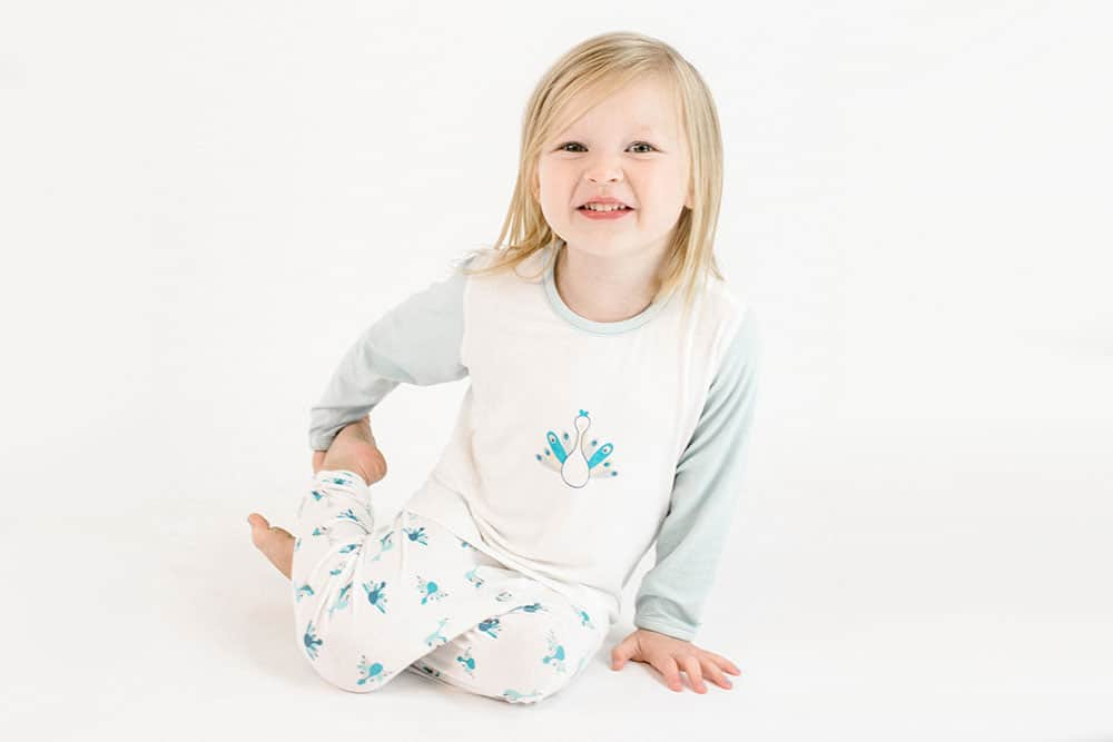 Two-Piece Bamboo Jersey PJ Set - Peacock