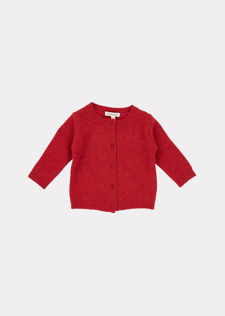 GUILLEMOT BABY CARDIGAN,BERRY