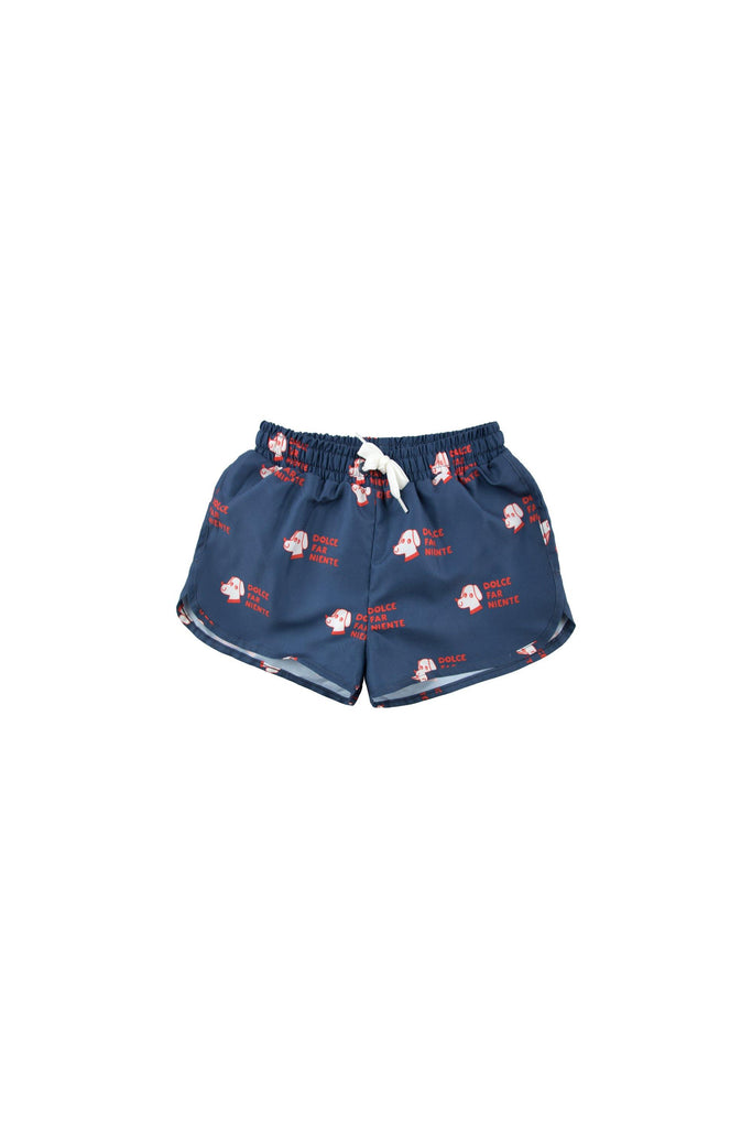 'DOGS' TRUNKS light navy/red - Cemarose Children's Fashion Boutique