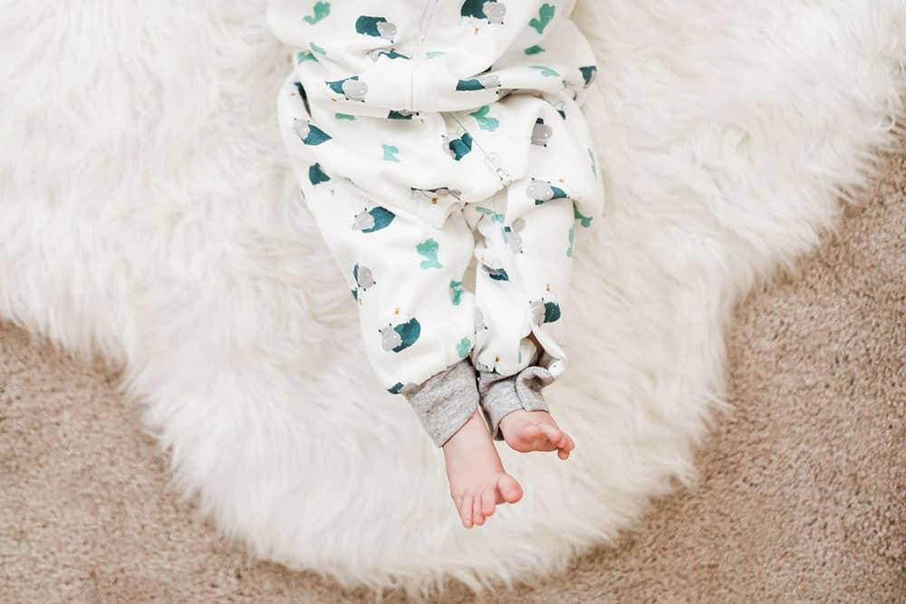 Organic Cotton Long Sleeve Sleep Suit 1.0 TOG, Hippo Bird