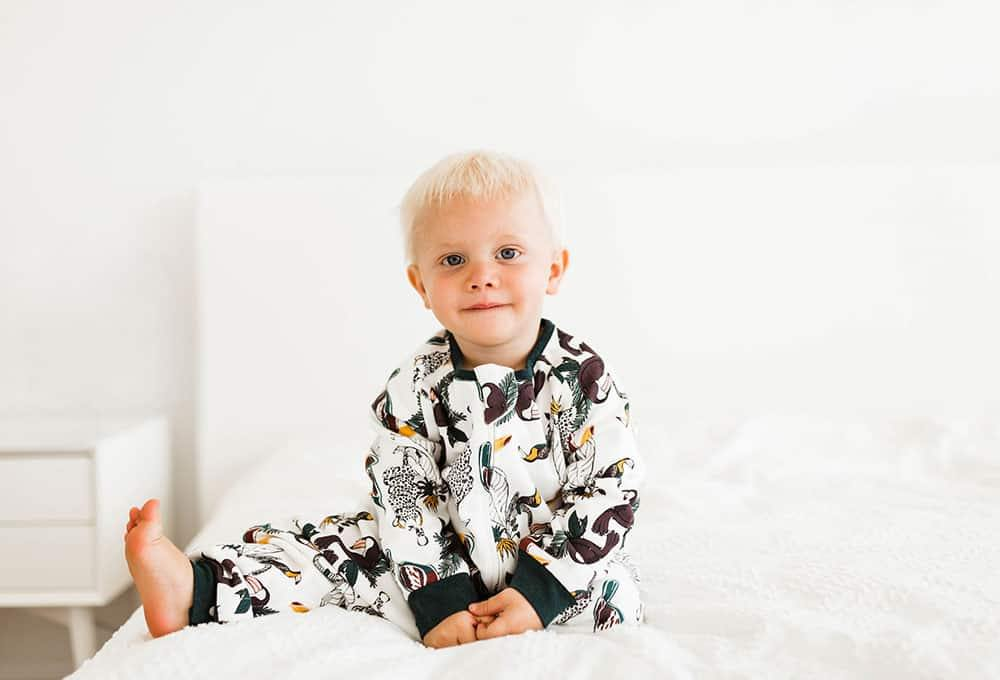 Organic Cotton Long Sleeve Sleep Suit 1.0 TOG, Jungle Fever