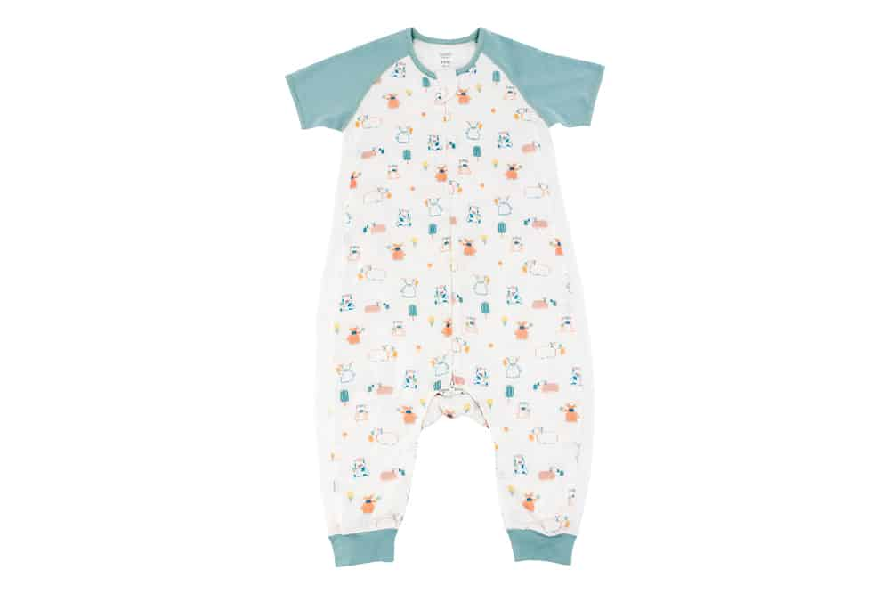 Raglan Bamboo Pima Short Sleeve Sleep Suit 0.6 TOG – Summer Graze