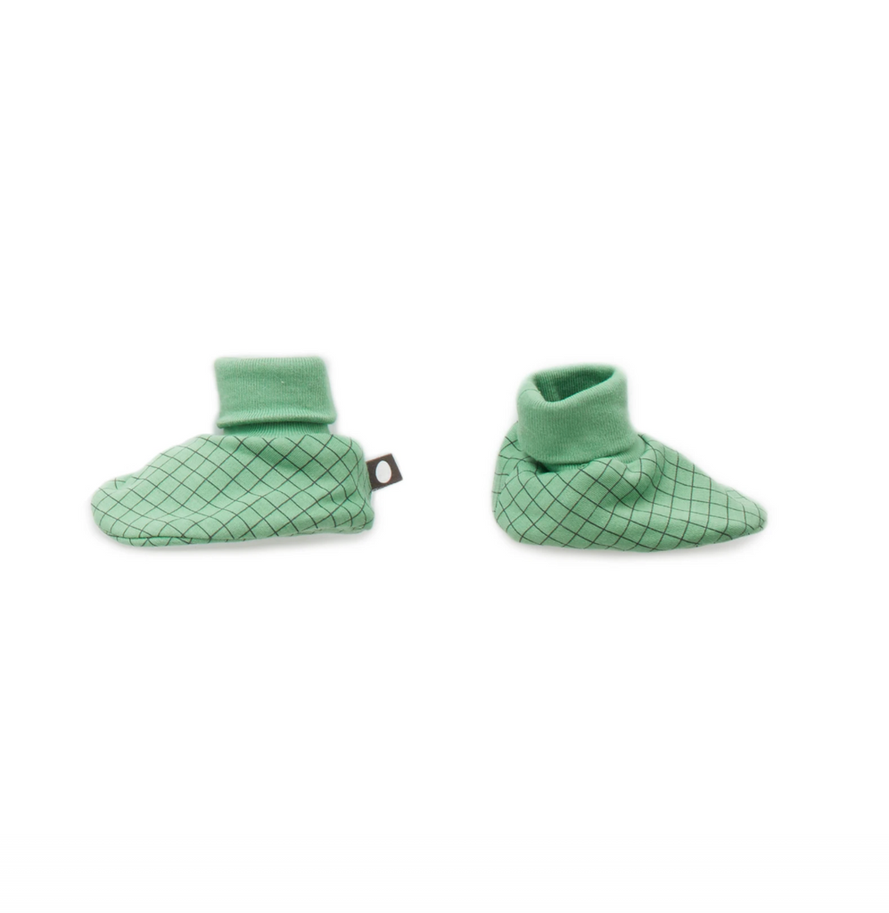 Booties, Green Chx- OS - Cemarose Children's Fashion Boutique