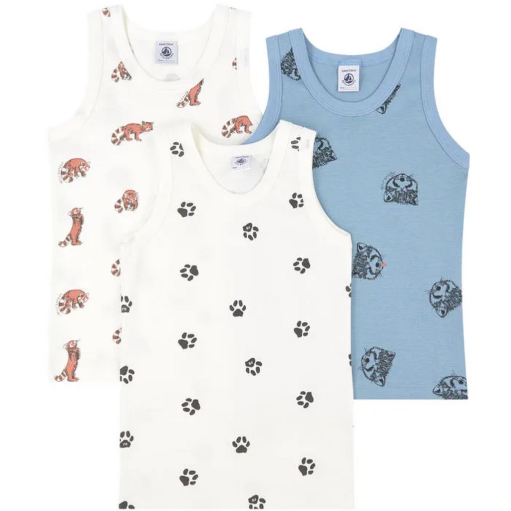 3-PIECE VEST SET, RACCOON - Cemarose Children's Fashion Boutique