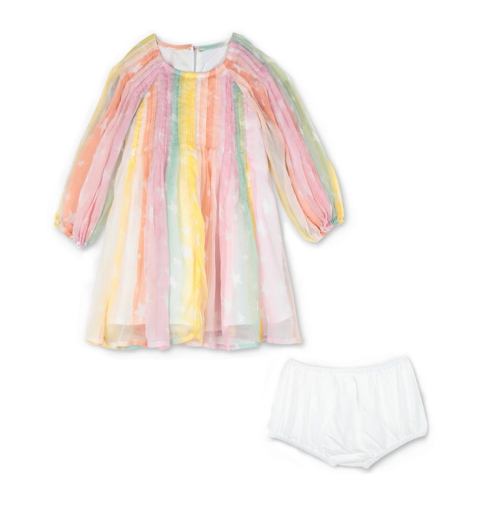 BABY GIRL RAINBOW SILK DRESS