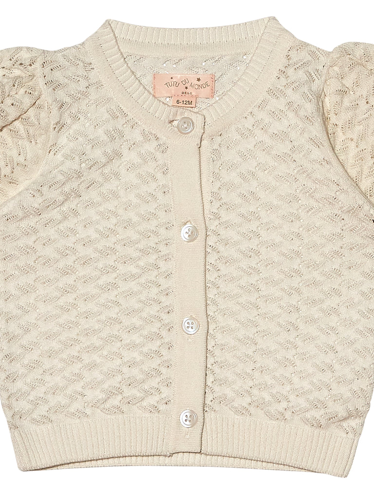 FAYE CARDIGAN, MILK - Cemarose Children's Fashion Boutique