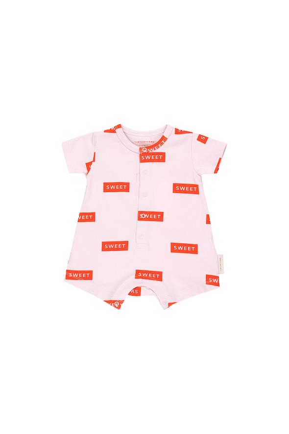 SS19-SWEET,RELAXED ONE-PIECE pearl/red - Cemarose Children's Fashion Boutique
