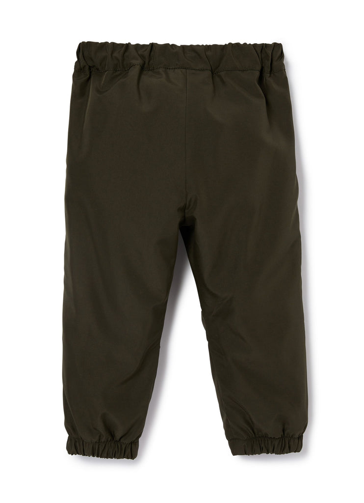 KID BOY TRACK PANTS,OLIVE