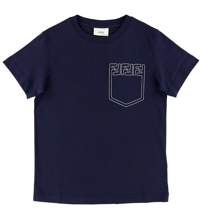 BOYS SS TEE WITH FF LOGO ON CHEST POCKET,NAVY