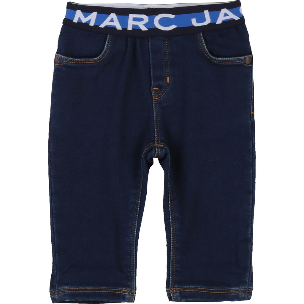 BABY LOGO BAND TROUSERS, BLUE - Cemarose Children's Fashion Boutique