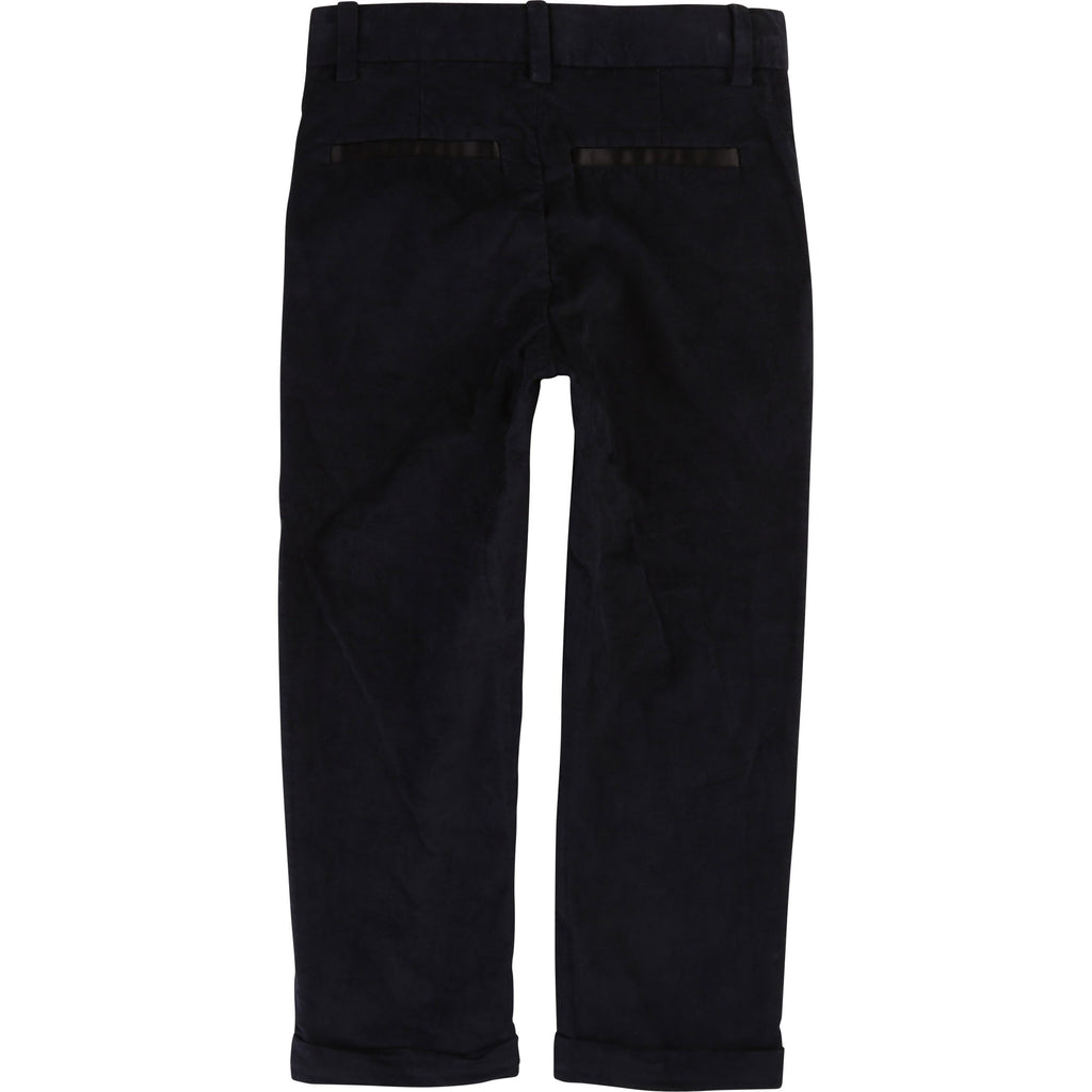VELVET SUIT PANTS, NAVY - Cemarose Children's Fashion Boutique