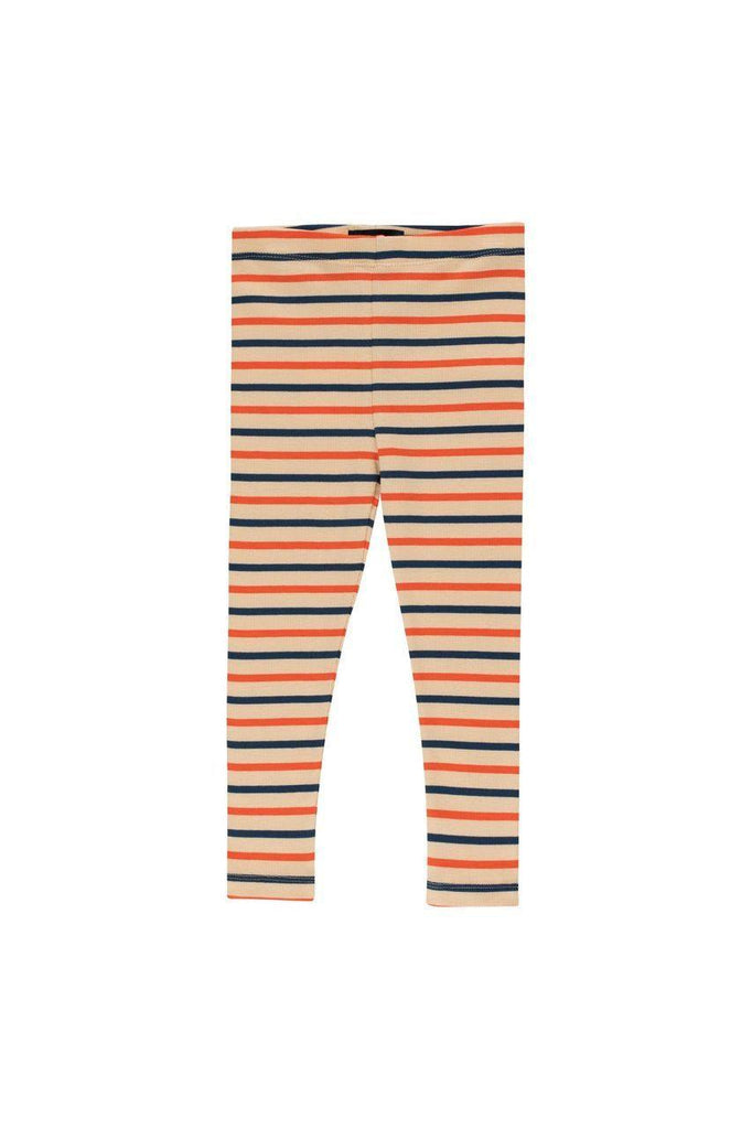 """STRIPES"" MOCKNECK PANT cappuccino/light navy/red - Cemarose Children's Fashion Boutique"