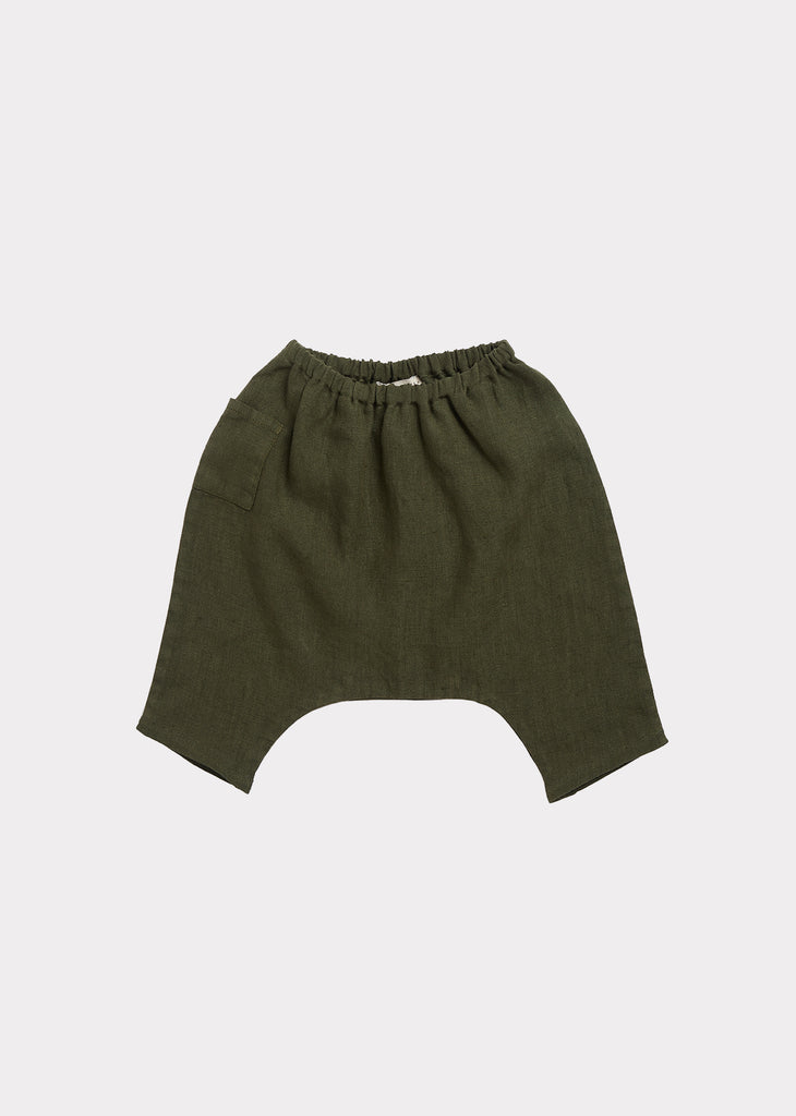 ALDGATE BABY TROUSERS, ARMY GREEN - Cemarose Children's Fashion Boutique