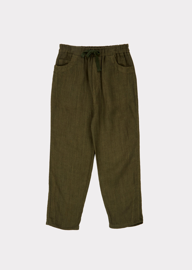 ALDGATE TROUSERS, ARMY GREEN - Cemarose Children's Fashion Boutique