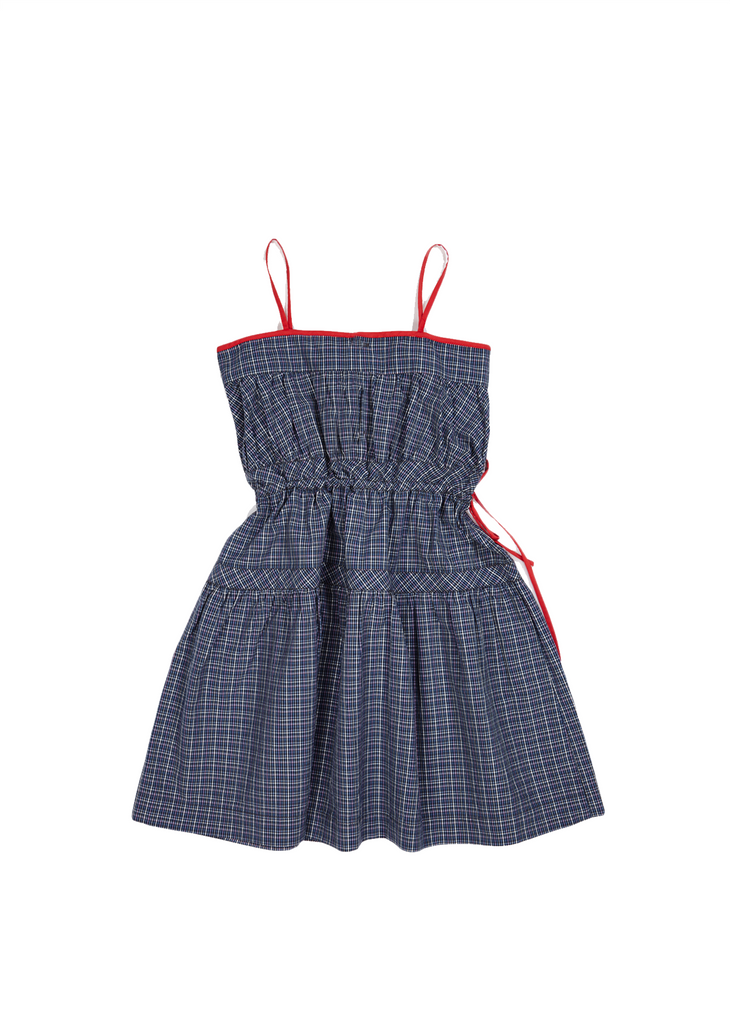 ALYSSUM DRESS,OXFORD BLUE - Cemarose Children's Fashion Boutique