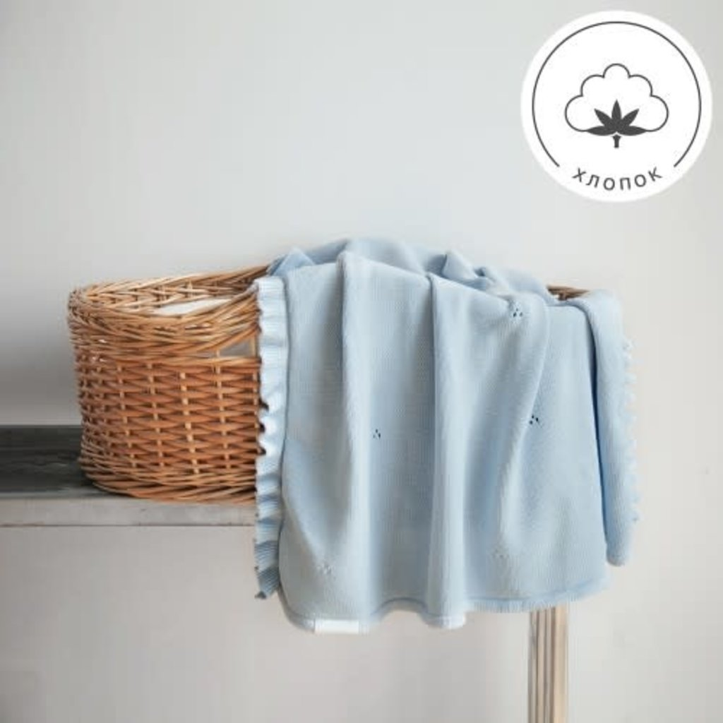 MILKY blanket, light blue - Cemarose Children's Fashion Boutique