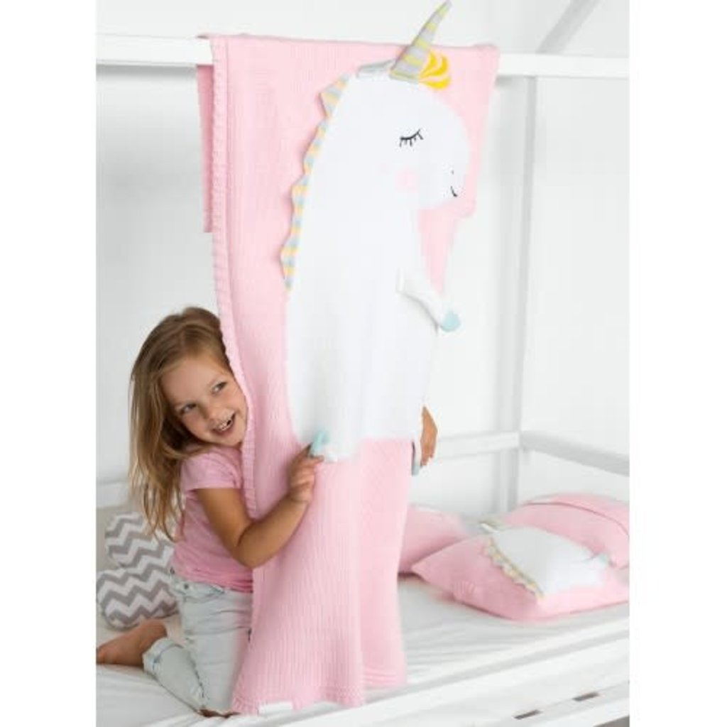 UNICORN blanket, light pink - Cemarose Children's Fashion Boutique