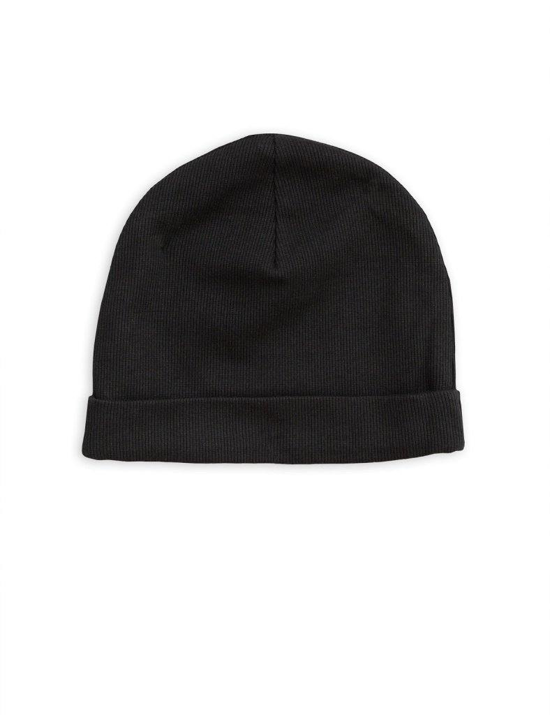 MINI RODINI Solid rib beanie, Black - Cemarose Children's Fashion Boutique