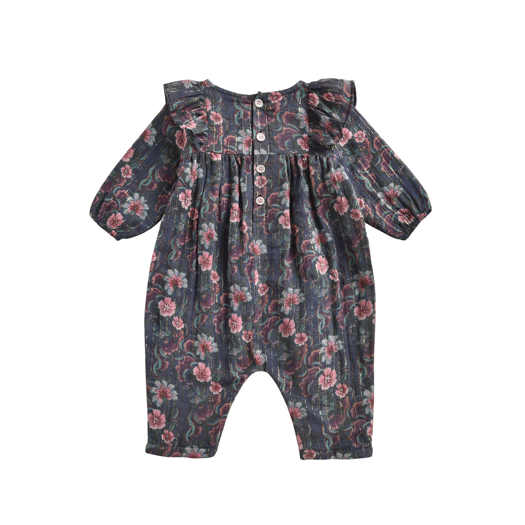 Overalls Titila Storm Flowers - Cemarose Children's Fashion Boutique