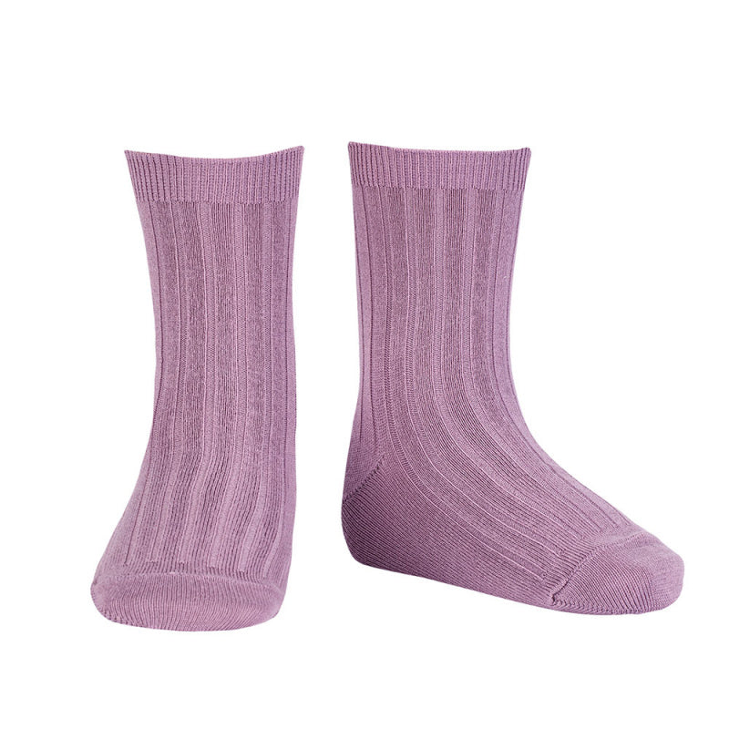 Basic rib short socks ,Amethyst 2.016/4 675