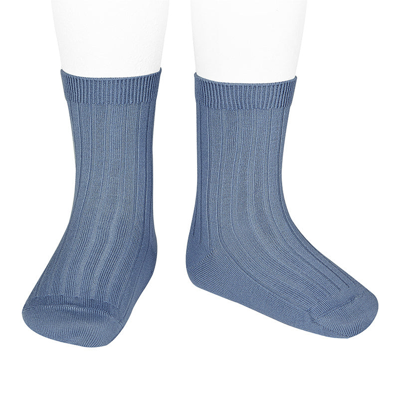 Basic rib short socks,French Blue 2.016/4 449