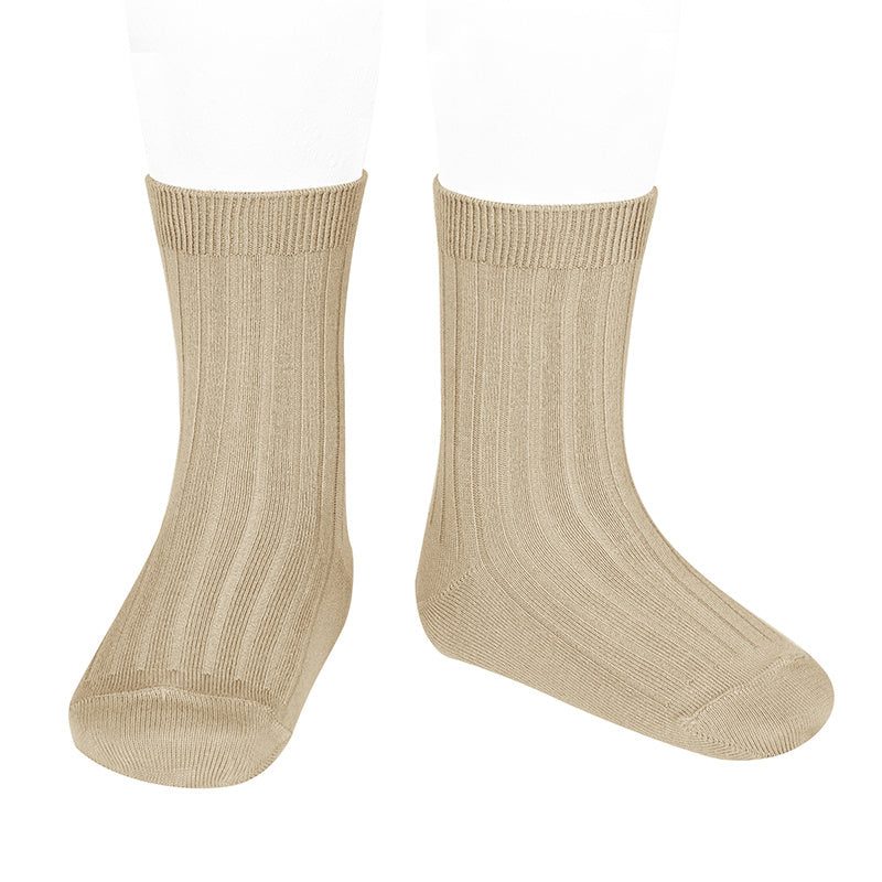 Basic rib short socks, Nougat 2.016/4 316