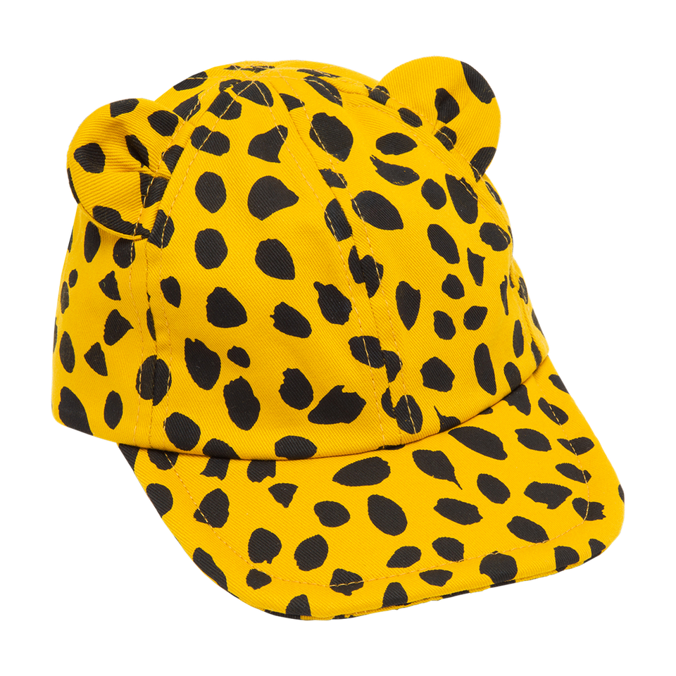 KID CHEETAH HAT,ORANGE