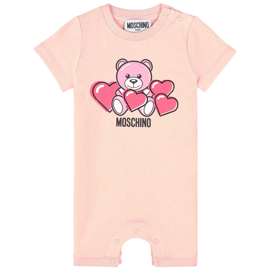 BABY SS ROMPER W HEART BEAR PRT AND GIFT BOX,SUGAR ROSE