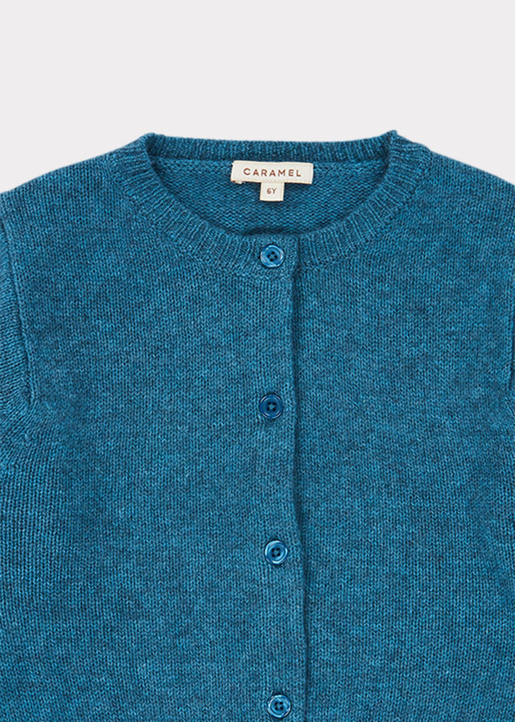 GUILLEMOT CARDIGAN,TEAL