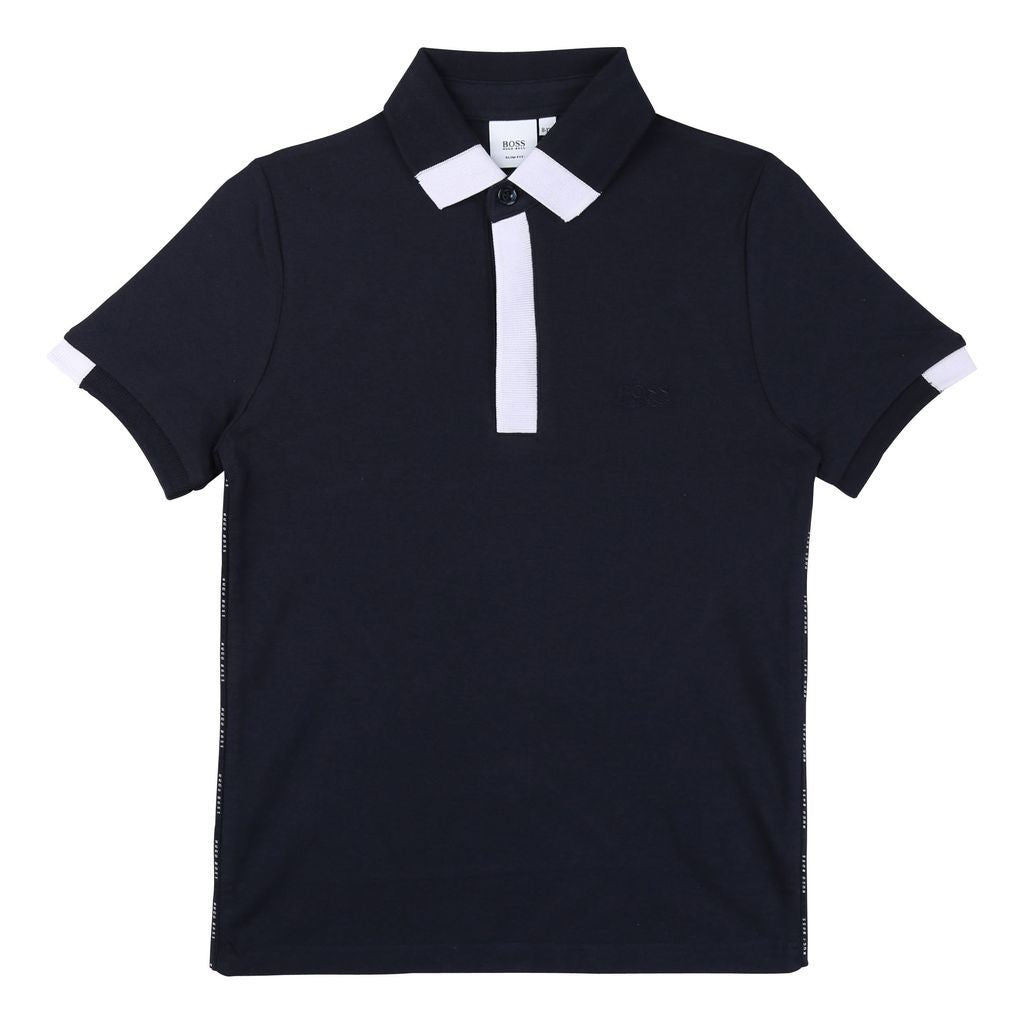 SHORT SLEEVE POLO, NAVY