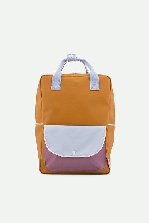 (Large Backpack) wanderer | caramel fudge + sky blue + pirate purple