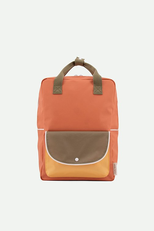 (Large Backpack) wanderer | faded orange + seventies green + retro yellow