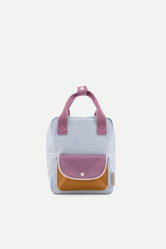 (Small backpack) wanderer | sky blue + pirate purple + caramel fudge