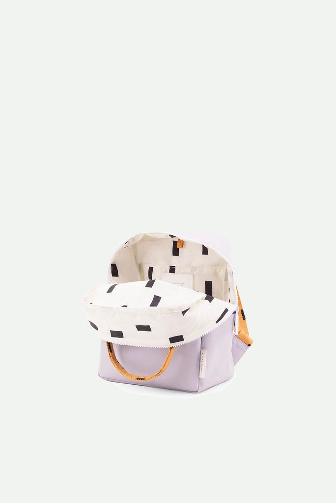 (Small backpack) sprinkles - Sticky Lemon -lavender + apricot orange