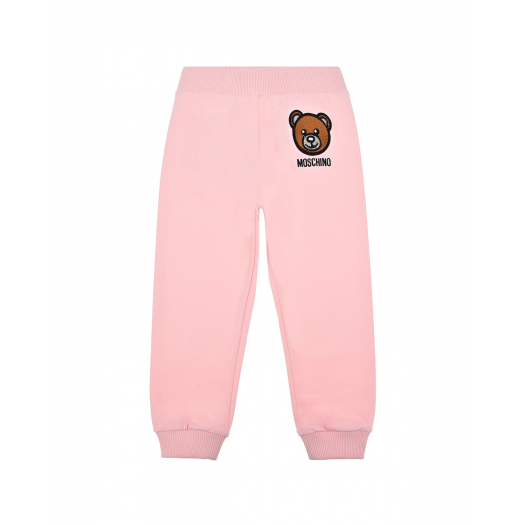 BABY HOODED TRACKSUIT W SMALL BEAR HEAD,SUGAR ROSE