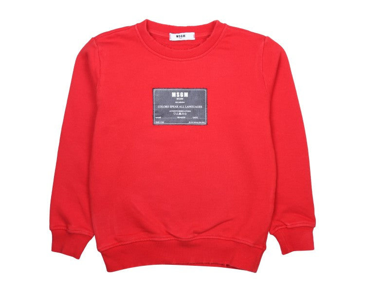 SWEATSHIRT FLEECE BOY,RED