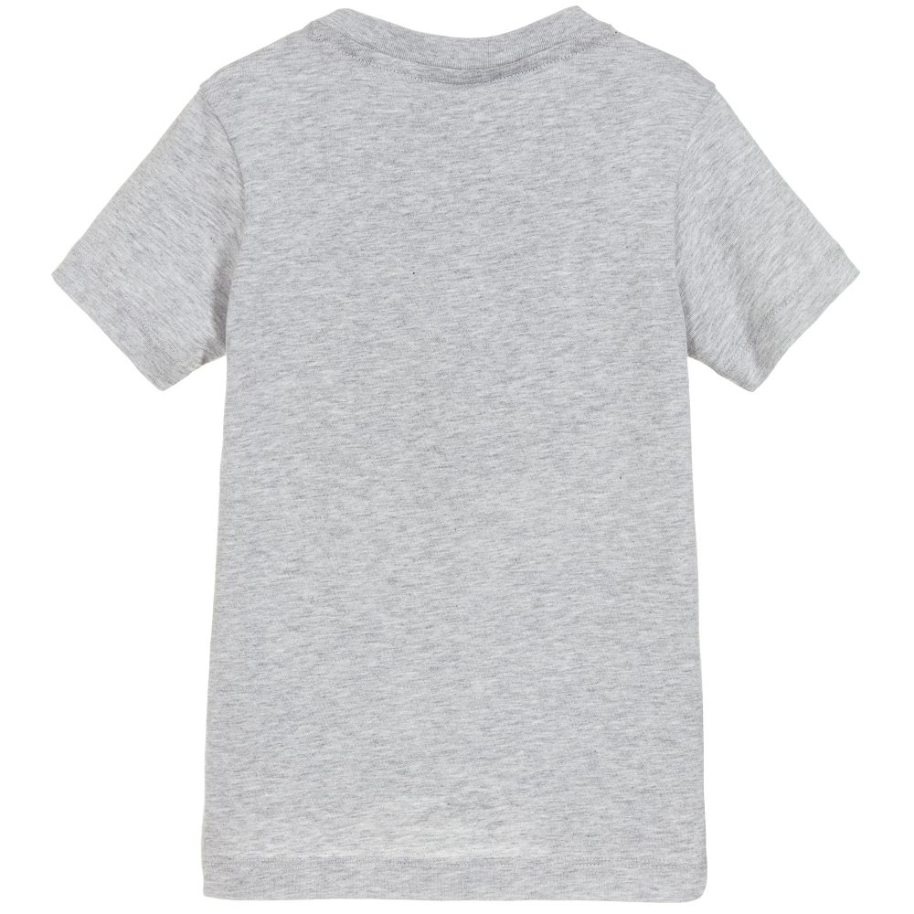 BOYS T-SHIRT WITH POCKET LOGO, GREY - Cemarose Children's Fashion Boutique
