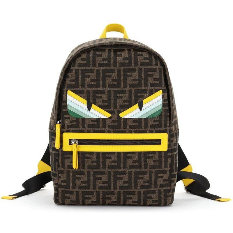 BACKPACK W EYES AND ALLOVER PRT,GREEN
