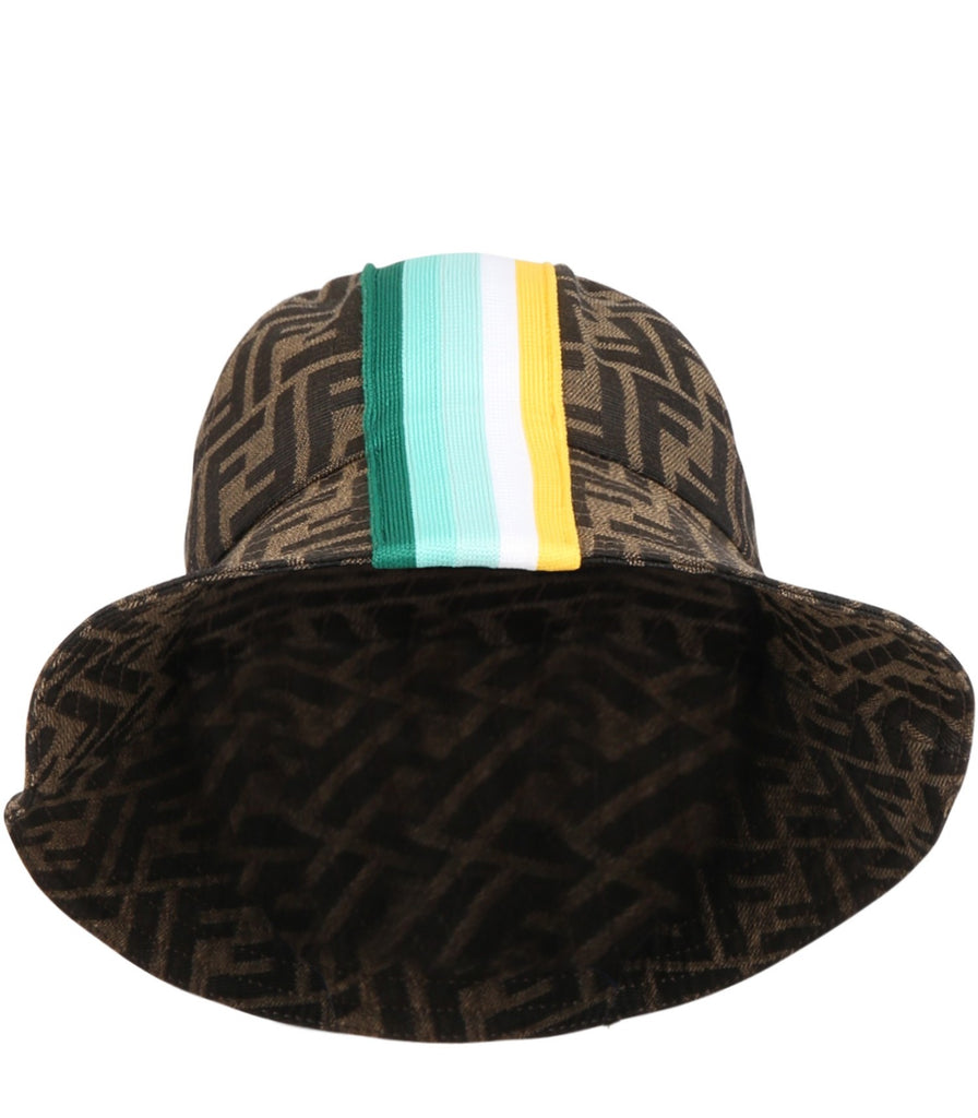 HAT W STRIPES PRT AND ALLOVER LOGO,GREEN