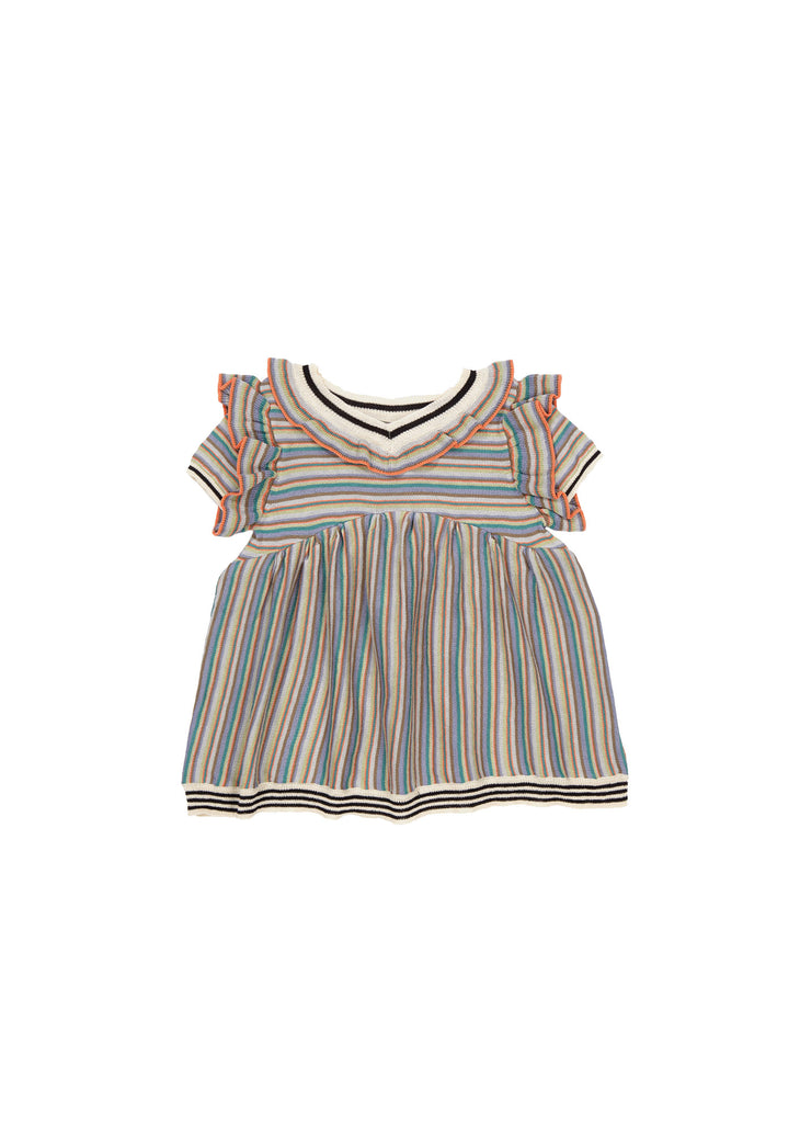 FOXGLOVE BABY KNITTED DRESS,MULTI - Cemarose Children's Fashion Boutique