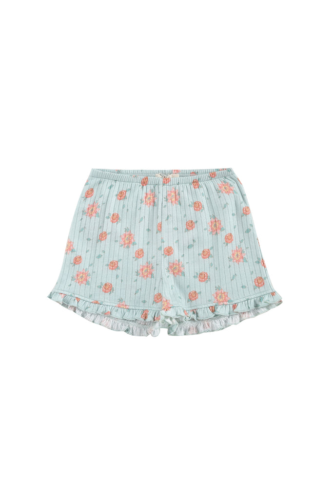 Shorts Anchi Vintage Blue Flowers