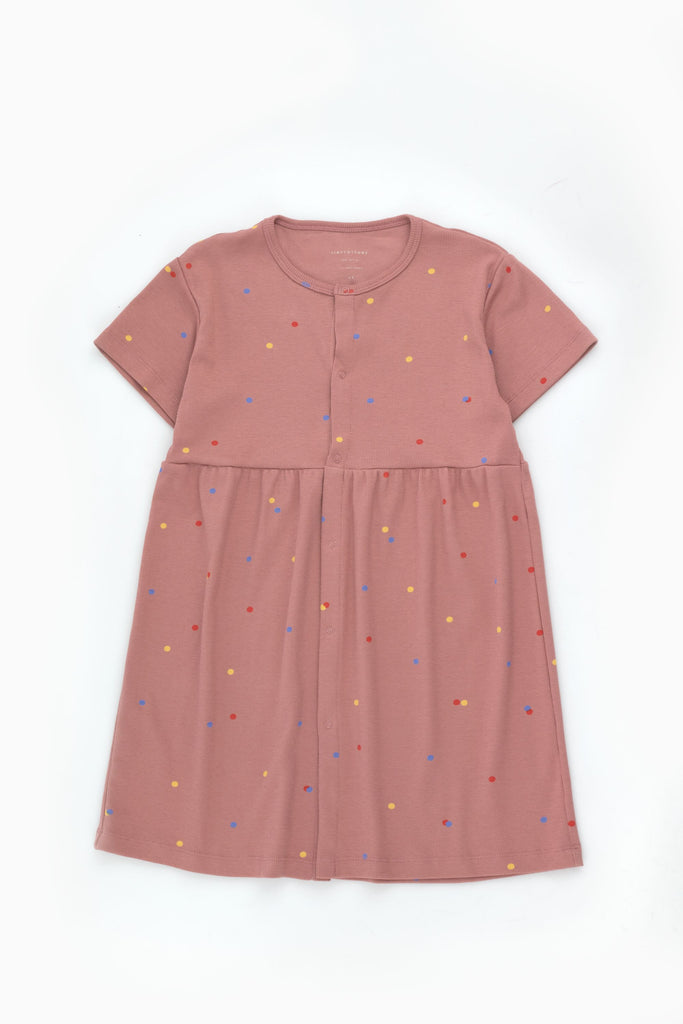 ICE CREAM DOTS DRESS mauve