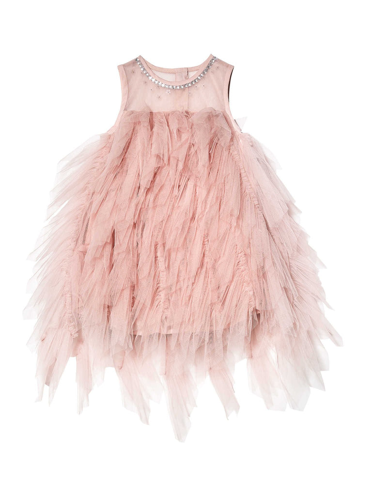 SUGAR BOMB TULLE DRESS *BEBE*,BLUSH