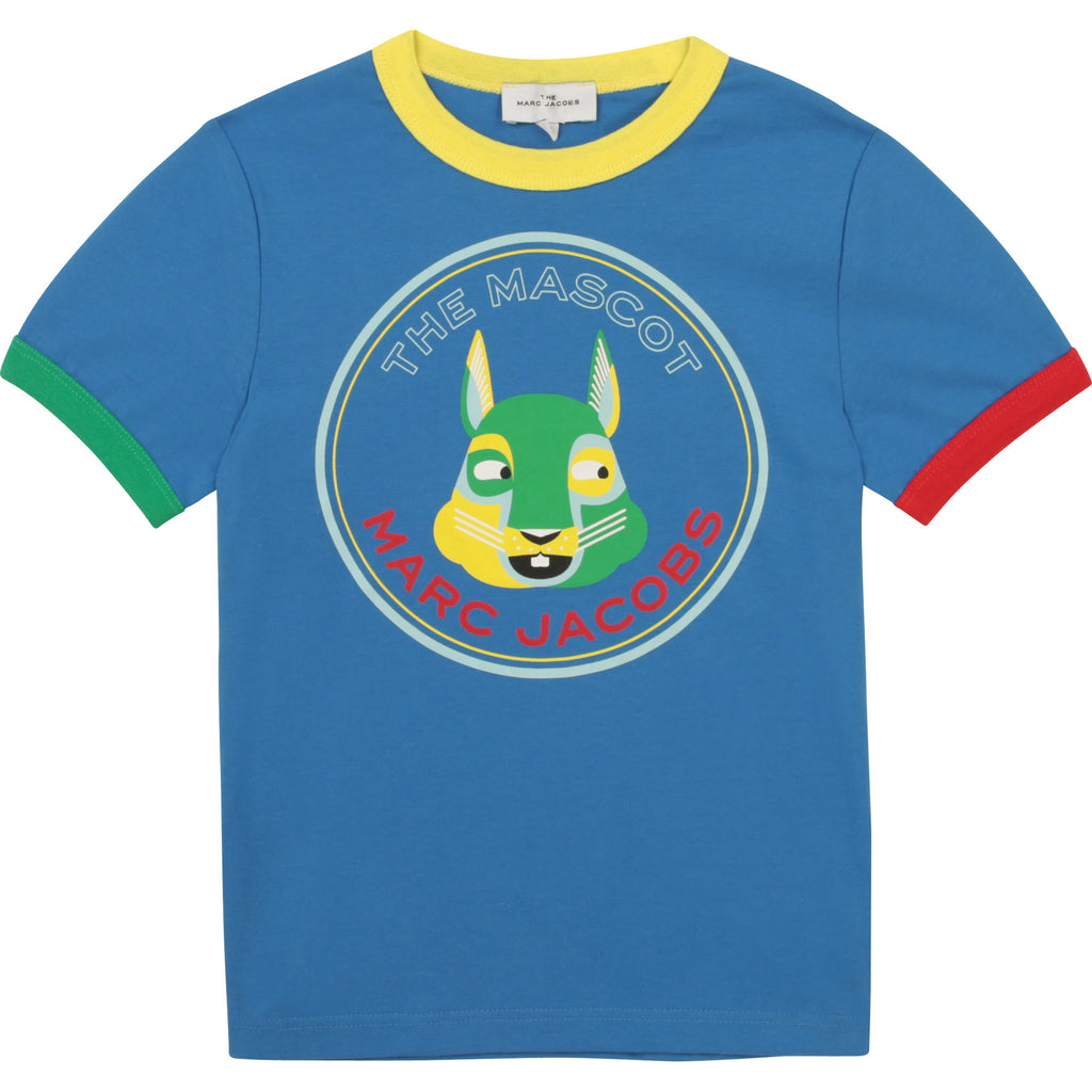 SS TSHIRT, MASCOT GRAPHIC,BLUE
