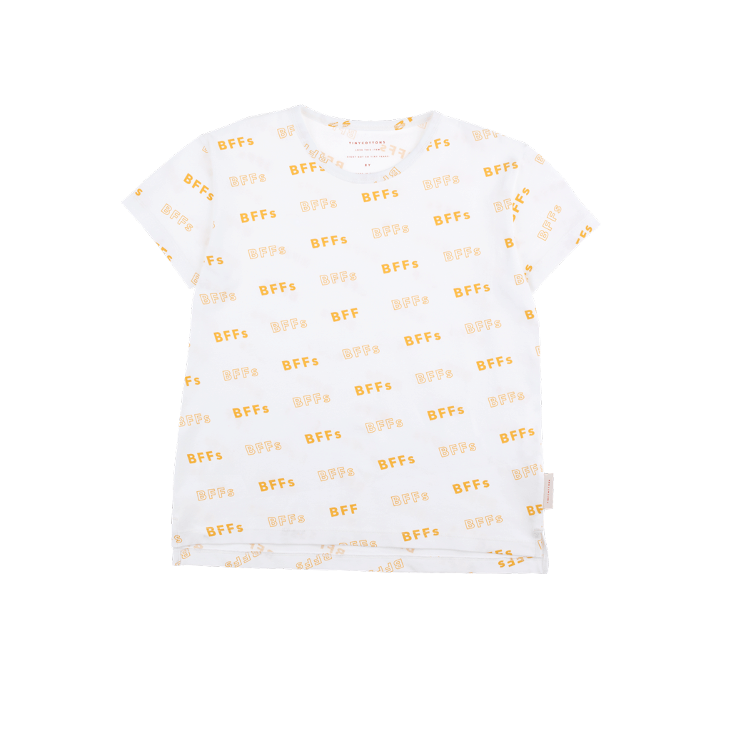 SS19-BFFs,SS TEE off-white/canary - Cemarose Children's Fashion Boutique