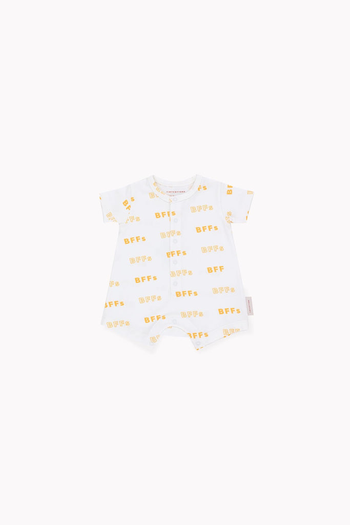 SS19-BFFs,RELAXED ONE-PIECE off-white/canary - Cemarose Children's Fashion Boutique