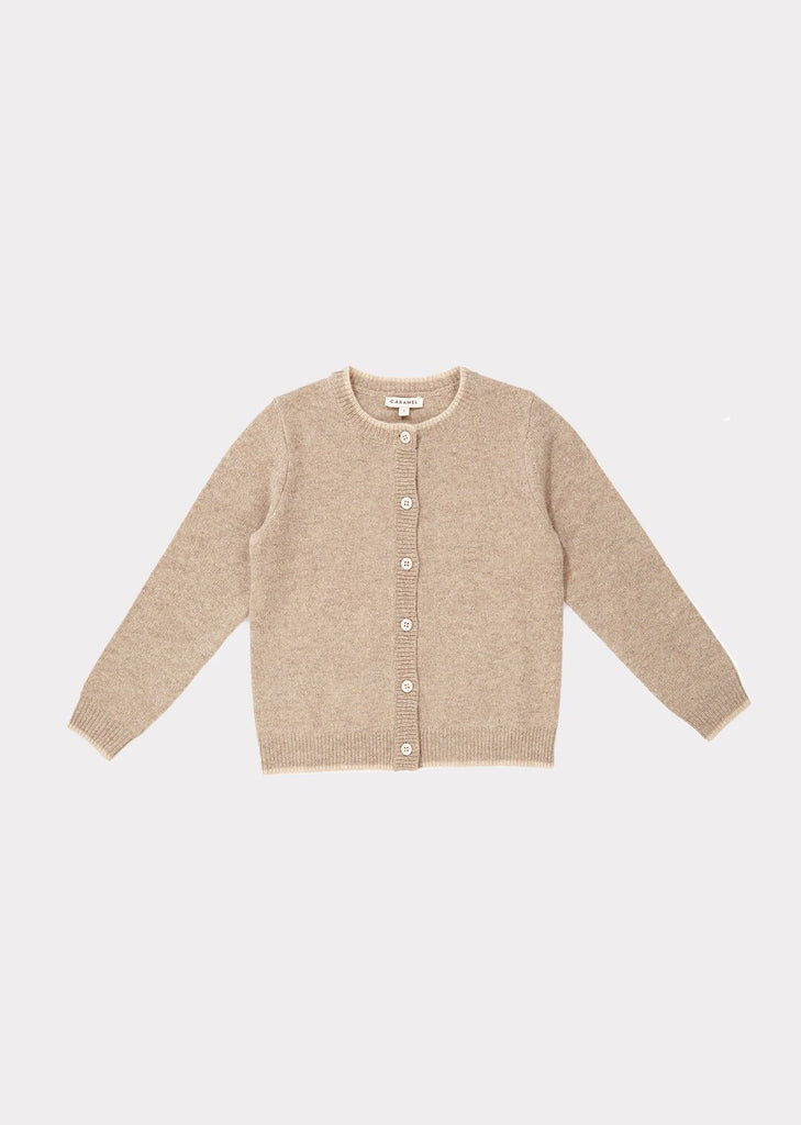 HERMIONE CARDIGAN, OATMEAL - Cemarose Children's Fashion Boutique