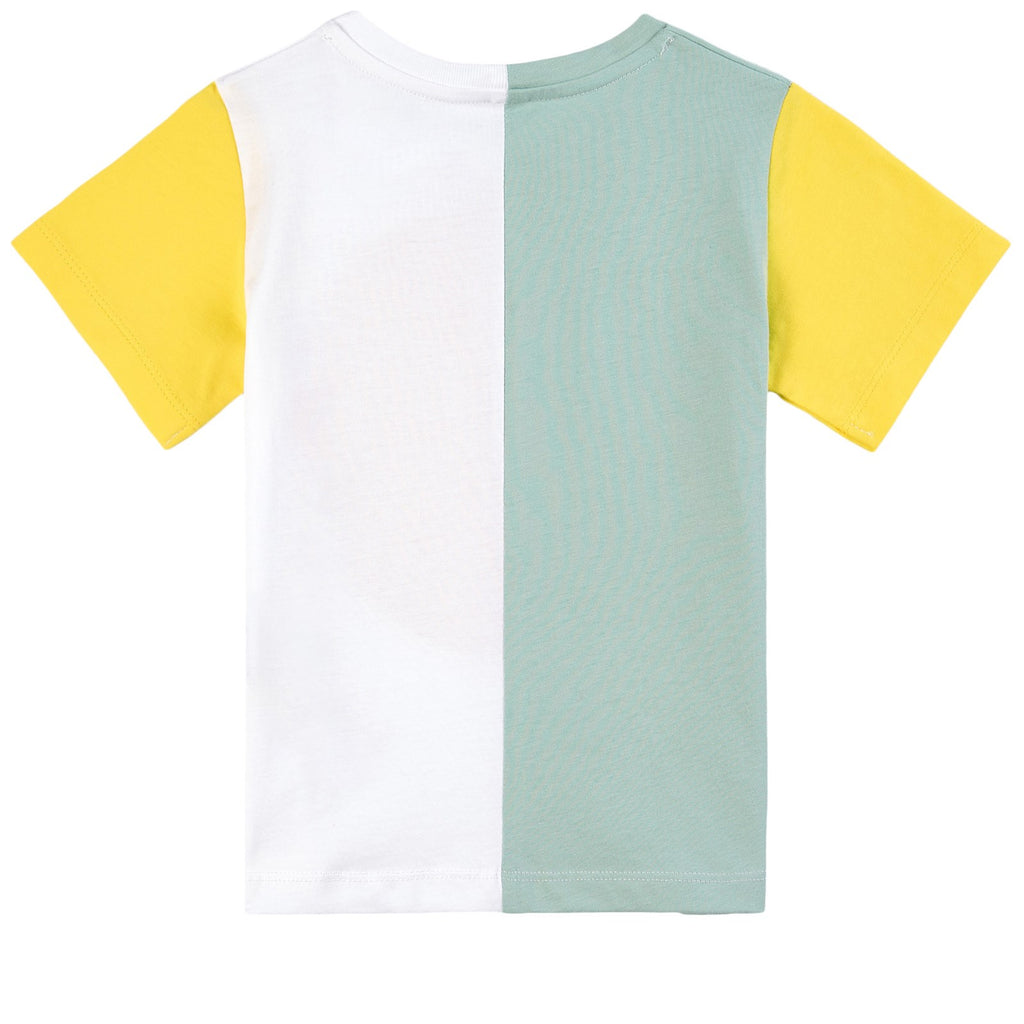 KID GIRL SS COLORBLOCK TEE DISK LOGO,MULTI