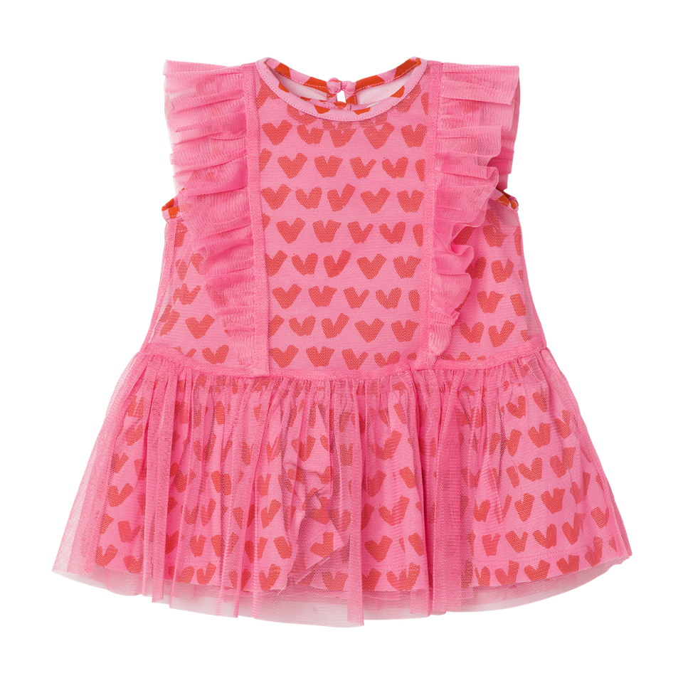 BABY GIRL HEARTS TULLE DRESS,PINK