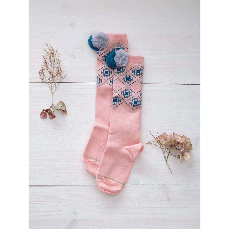 Girls Vieux Rose Cotton Socks - Cemarose Children's Fashion Boutique